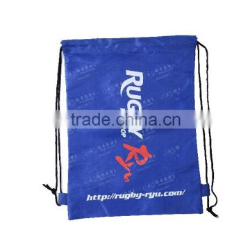 Cheap wholesale OEM logo polyester backpack rucksack with loops
