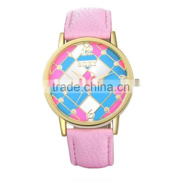 Import china goods pink watches wrist watch