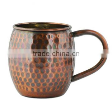 copper plated hammerred mug for sale