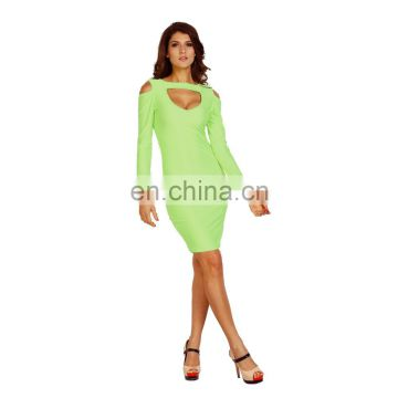 long sleeve Sexy Night Clubwear Tight Transparent Jumpsuits For Women