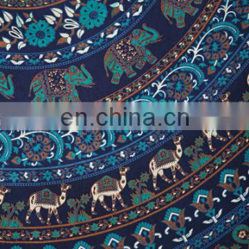 Elephant Mandala Tapestry Wall Hanging Indian Hippie Dorm Tapestries Bedspread Ethnic Decor Art Blue