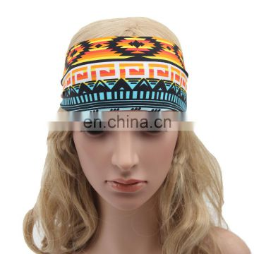 Fashion sports coverd elastic yoga Spandex fabric hair bands
