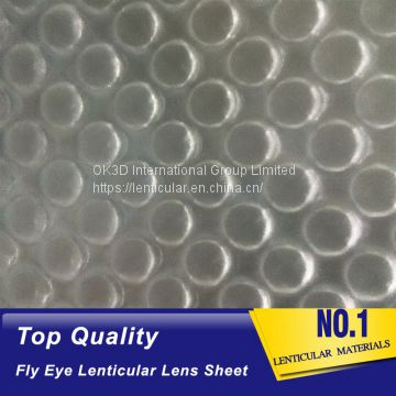 high quality double sided dots fly eye 3d lenticular lens sheet materical with 3d effect and 360 degrees