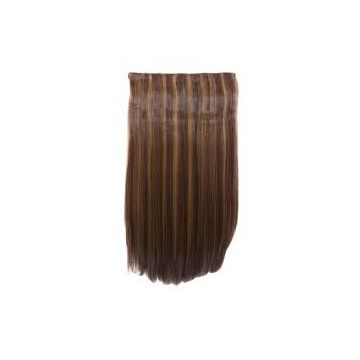 No Shedding Fade Chocolate 10-32inch Synthetic Hair Extensions Clean Russian