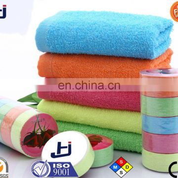 Wholesale produced multicolor compressed towel and bath towel
