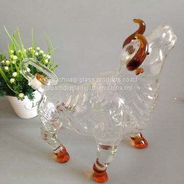 bull shaped unique wine bottles/unique shaped wine glass bottles/uniqu...