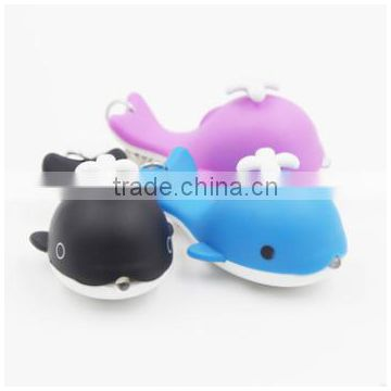 LED night-light sound production whale original key chain