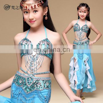 ET-142 Turkish high quality beaded decorated sexy children belly dance costumes