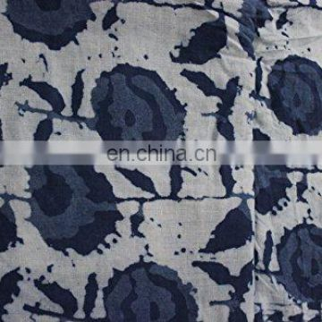5 Yard Indian Cotton Voile Fabric Hand Block Print Decorative Dressmaking By The Metre
