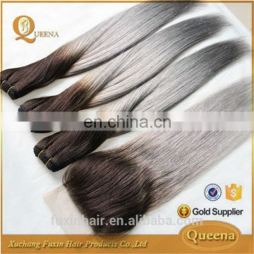silver grey human hair for braiding 1b grey ombre grey human hair weaving wig