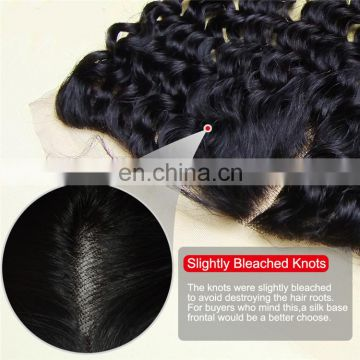 7A Full Lace Frontal Closure 13x4 Deep Curly Wave Virgin Brazilian Human Hair Ear To Ear Top Lace Frontal Pieces Wholesale Price