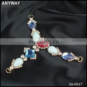 Charming t shape rhinestone shoe chain sandal uppers sandal accessories wholesale
