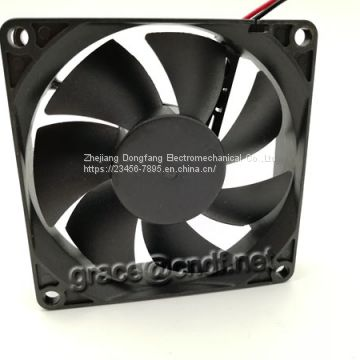 CNDF have stock and shot delivery time dc cooling fan factory 80x80x20mm 24VDC 3500rpm