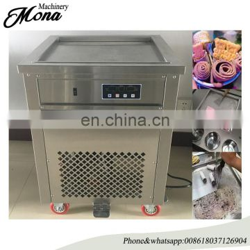 Portable Tasty Fry Ice Cream Maker Flat Pan Real Fruit Fry Ice Cream Machine