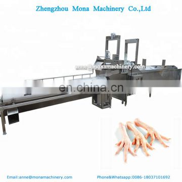 Automatic chicken feet claw paw separating machine/chicken feet peeling and cleaning processing product