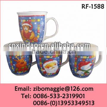 Professional Belly Shape 2016 Christmas New Design Tea Cups for Promotion Ceramic Travel Cup