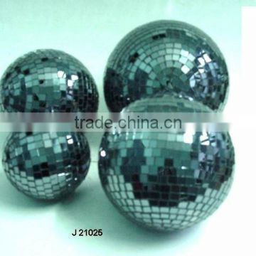 Black Glass Mosaic Decorative balls available in all sizes and colours