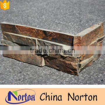 real rusty stone corner wall cladding for house NTCS-C017Y