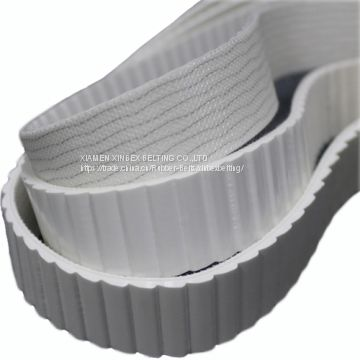 4 8mm PVC White Saw Tooth Types Small Conveyor Belt Factory