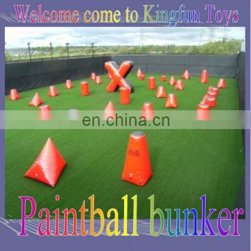 Customized exciting inflatable paintball outdoor
