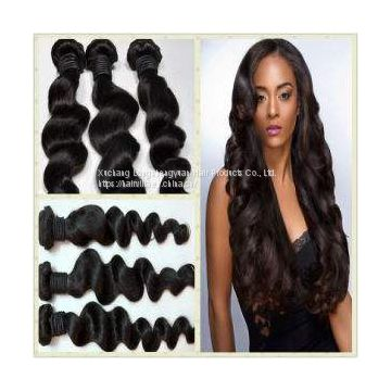 9A Brazilian Loose Wave 3 Bundles Human Virgin Hair Weave hairvilla hair