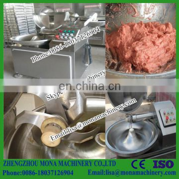 Automatic stepless bowl cutter machine for cutting sausage meat Hummus Machine meat bowl cutter/ sausage making
