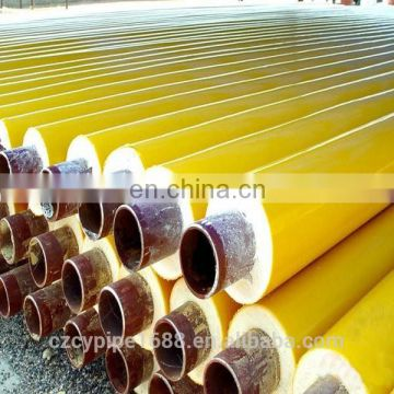 tianjin yellow jacket polyurethane insulated steel pipe
