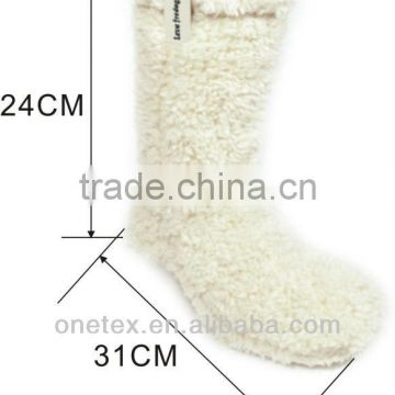 Fluffy indoor warm soft shoes