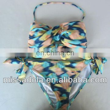 Sexy Bandeau printing two pieces swimwear /Bikini