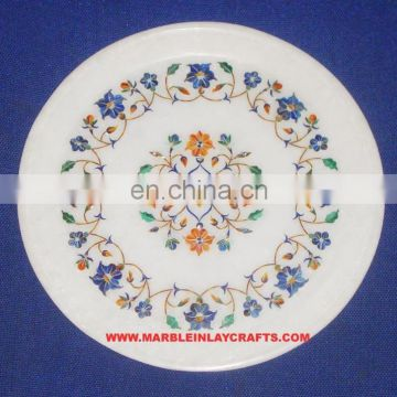 Marble Inlay Plate Indian Inlay Marble Plate