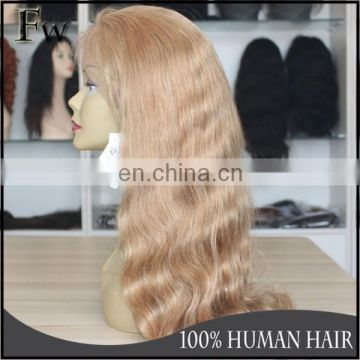 Virgin peruvian body wave human lace front wig wholesale raw unprocessed blonde wigs with baby hair