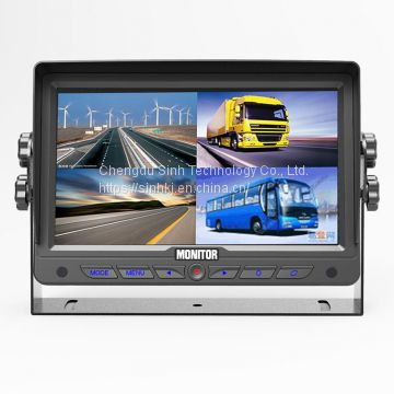 AHD 7 Inch Rear View Split Quad Monitor