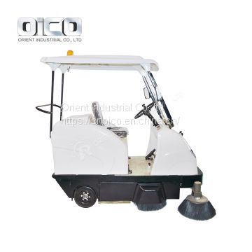 OR-E800W battery road sweeper machine  /  industrial electric street sweeper