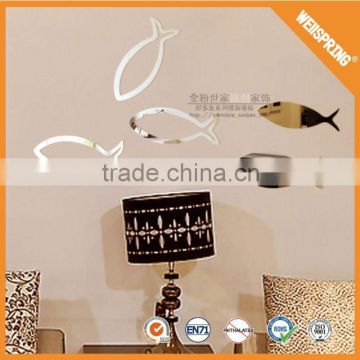 Hot sale none-toxic ruler adhesive acrylic mirror wall sticker