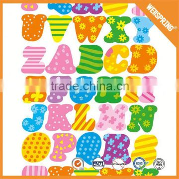 Wholesale high quality glitter letter puffy sticker