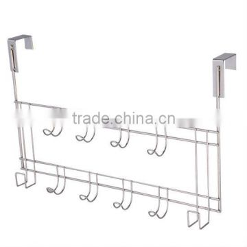 10 Fixed Hooks Chrome Wall Mounted