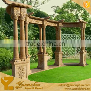 Marble large outdoor stone pavilion for garden decoration for sale