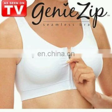 seamless Genie Bra Front Zipper with removeable pads