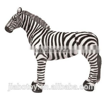 soft toys life size zebra plush toy 100 cotton fabric for Kid The African jungle animal