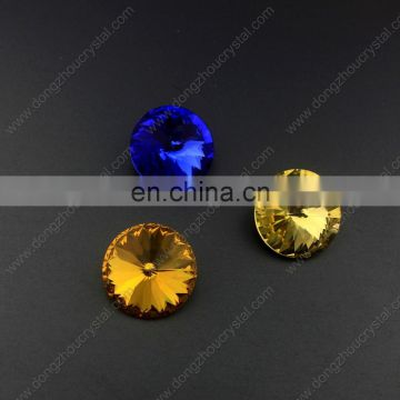 3019 point back crystal stones with round shape