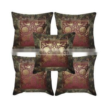 Indian Handmade Elephant Brocade Silk Cushion Cover Vintage Pillow Cases Single Pillow Cover Pillow Case Throw Art wholesale