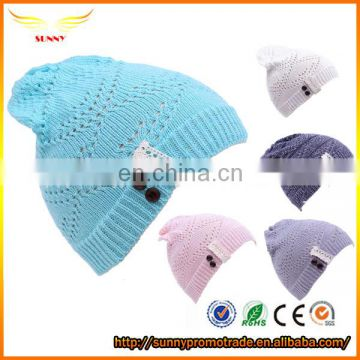 Fancy hollow out design beanies hat