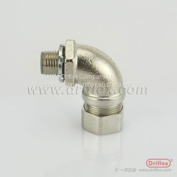 Nickel Plated Brass 90d Angle Liquid-tight Conduit Fittings Made by Driflex