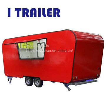 Customized mobile fiberglass food kiosk cart