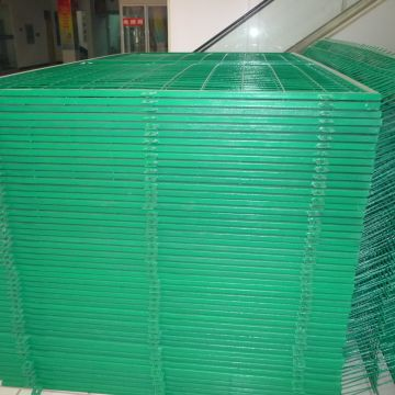 Welded Utility Fence 5 Foot Wire Fence Pvc Coated Curved Wire Mesh Fence