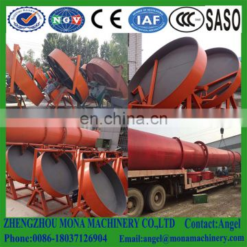 Round disc fertilizer making machine for manure and food waste