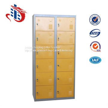 Steel almirah designs 12 door public clothes storage locker