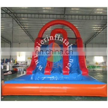 Big size Commercial inflatable Red water slide for adult and