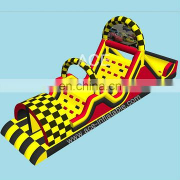 new car race inflatable obstacle course