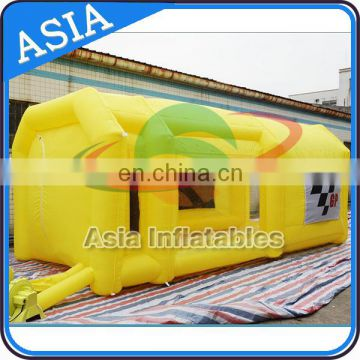 China Wholesale Portable Water Curtain Spray Booth / Inflatable Garage Paintbooth Workshop